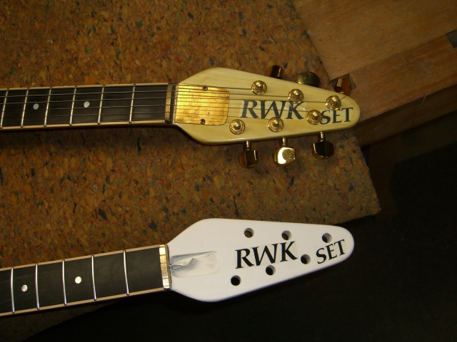 Preping Headstock - Decal applied